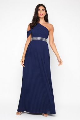 TFNC Jovie Bridesmaid Maxi Dress Navy