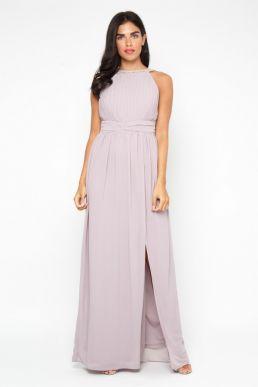 TFNC Martha Maxi Bridesmaid Dress Grey