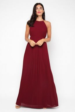 TFNC Serene Bridesmaid Wine Maxi Dress Burgundy