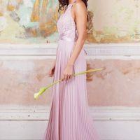 TFNC Viva Mink Lace Maxi Bridesmaid Dress Pink Blush