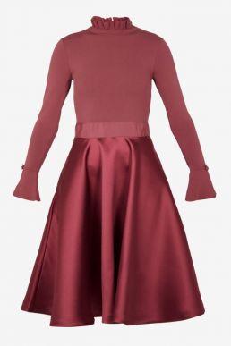 Ted Baker ZADI Frill Cuff Dress Coral Pink