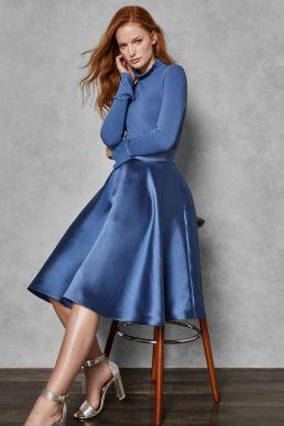 Ted Baker ZADI Frill Cuff Dress Blue