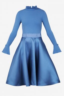 Ted Baker ZADI Frill Cuff Dress Blue