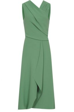 Reiss Marling Wrap Front Midi Dress Pale Green