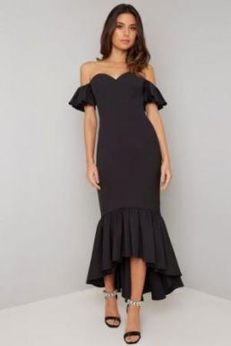 Chi Chi Isabelle Mermaid Maxi Dress Black