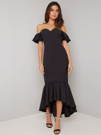 Chi Chi Isabelle Mermaid Maxi Dress Black