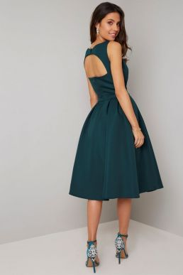 Chi Chi Kelly Short Bridesmaid Dress Green