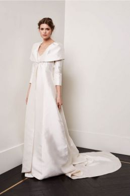 Amanda Wakeley Alberta Wedding Coat Ivory