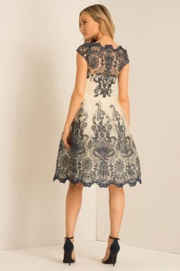 Chi Chi Kelsey Lace Dress Navy Cream