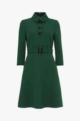 Damsel in a Dress Adie Button Dress Forest Green