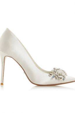 Dune Bridal Collection Brydee Flower Garden Court Shoes Ivory