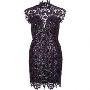 great discount sale release info on available Forever Unique beige lace bodycon dress, Black/Purple ...