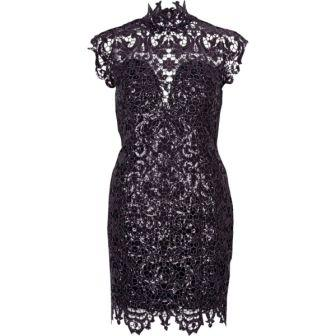 Forever Unique beige lace bodycon dress Black Purple