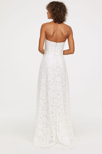 Hm Wedding Dress.H M Long Lace Bandea Wedding Dress Ivory