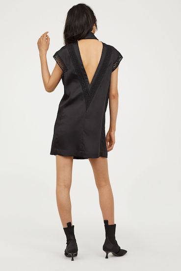 134c4c1f3ea20 H&M Dress with lace, Black | myonewedding.co.uk