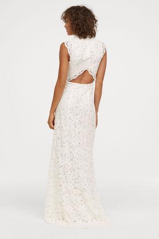 Hm Wedding Dress.H M Long Lace Sleeveless Wedding Dress Ivory