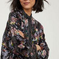 H&M Sequin-embroidered jacket Multi Black