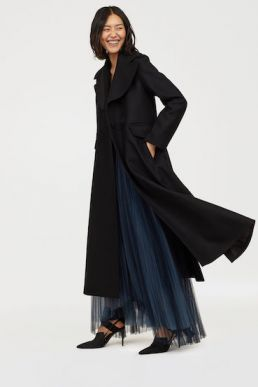 H&M Wool-blend coat Black