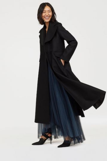 H&M Wool-blend coat Black