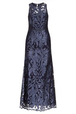 Hobbs Gabrielle Maxi Dress Navy Blue