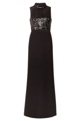 Hobbs Sequin Paloma Maxi Dress Black