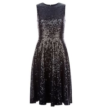 Hobbs Robin Sequin Dress Black