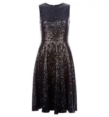 Hobbs Robin Sequin Dress Black