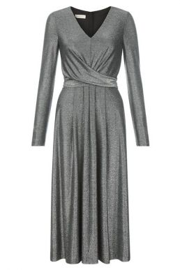 Hobbs Charlize Midi Dress Silver