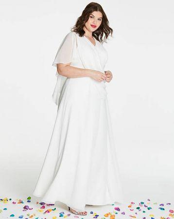 4e2b05b1ec3 Joanna Hope Cape Bridal Dress Ivory