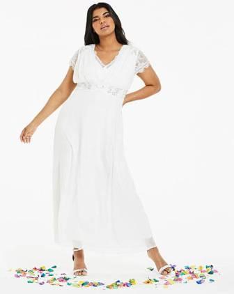 951998d7 Joanna Hope Jewel Trim Bridal Dress, Ivory   myonewedding.co.uk