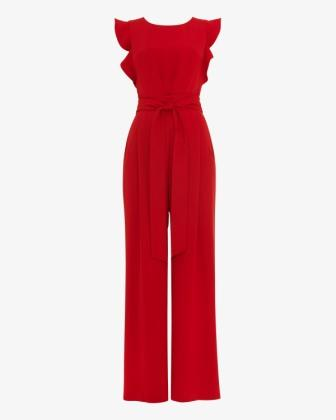 Phase Eight Henrietta Lace Shift Dress Red