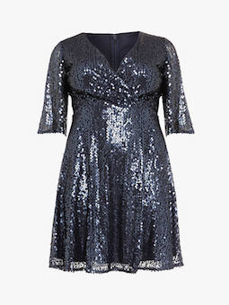 Studio 8 Maya Sequin Dress Blue