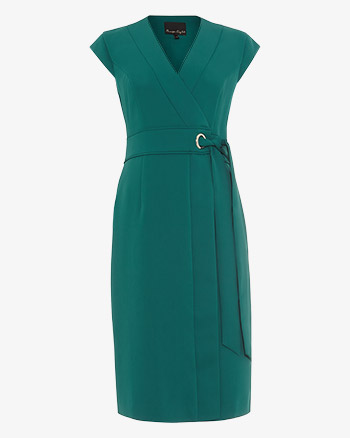 Phase Eight Pippa Wrap Shift Dress Green