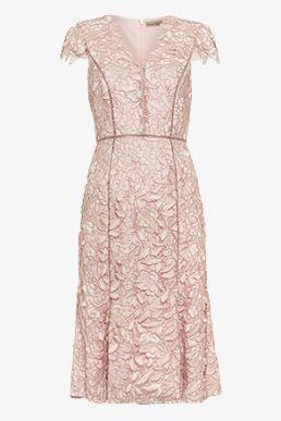 Phase Eight Amaya Lace Dress Blush Light Pink