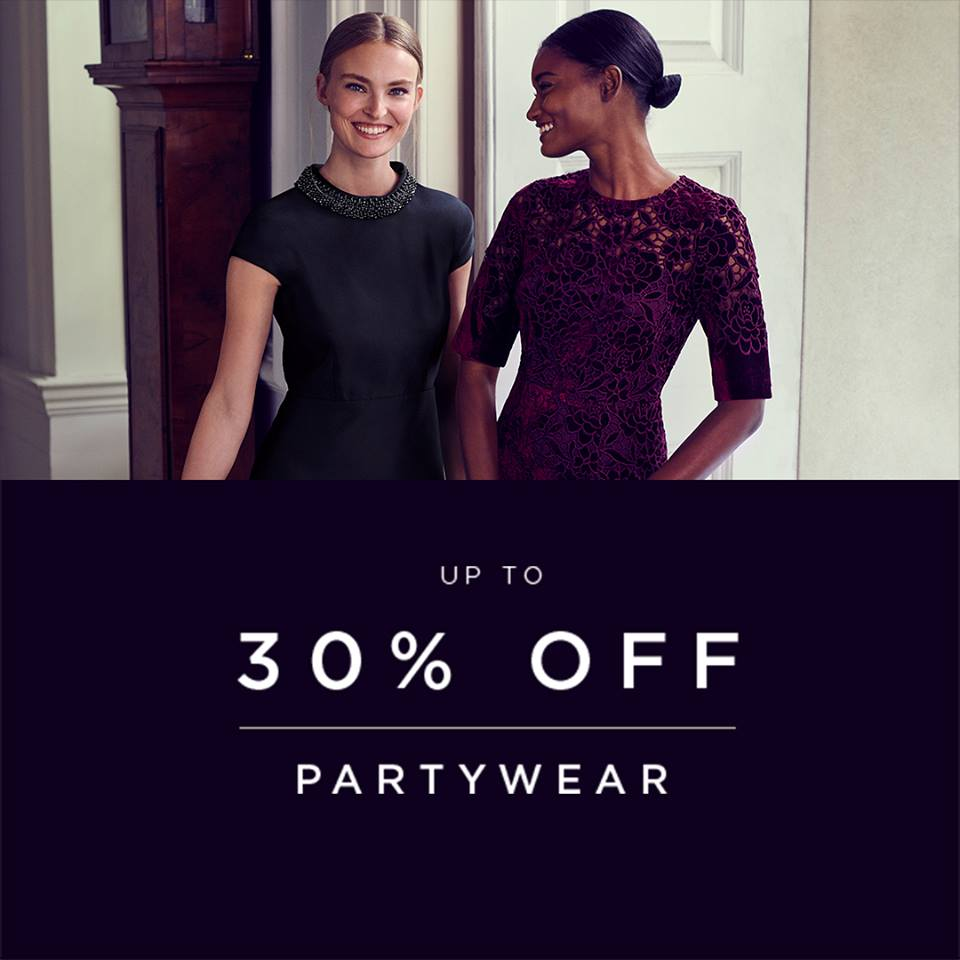 up to 30% off partywear