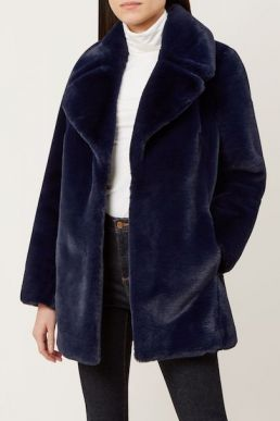 Hobbs Bethany Coat Navy Blue