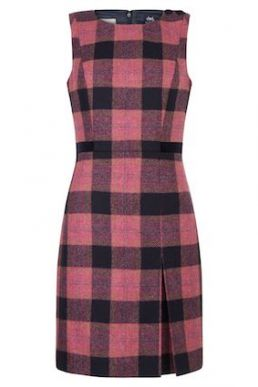 Hobbs Avery Check Shift Dress Pink Black