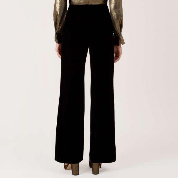 Hobbs Harlow Velvet Trouser Black