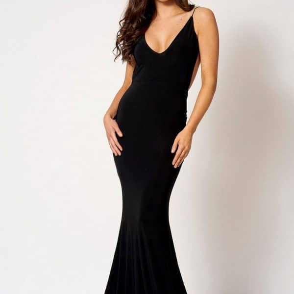 47152431f25e Knot Camisole Fishtail Maxi Dress Black by Club L London ...