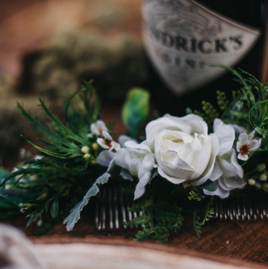 bridal hair floral crown