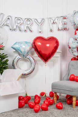 Inflated White Christmas Proposal Package Silver
