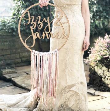 Personalised Wedding Boho Fringe Hoop