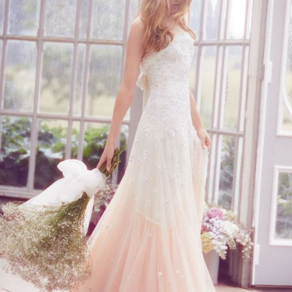 b9ca1f5f582 Needle   Thread Pearl Rose Cami Bridal Gown Ivory Pink