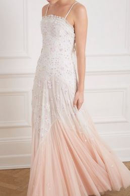 Needle & Thread Pearl Rose Cami Bridal Gown Ivory Pink