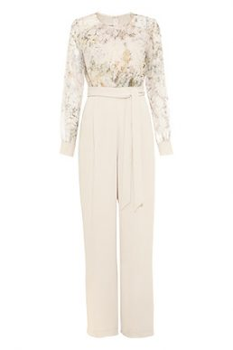 Phase Eight Aleena Printed Bodice Jumpsuit Cream Multi