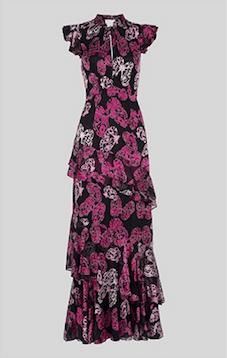 1c796d3ec2 Whistles Butterfly Devore Print Maxi Dress Purple Black. Whistles Butterfly  Devore Print Maxi Dress Purple Black