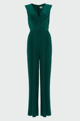 Phase Eight Isabelle Pleat Bodice Jumpsuit Green