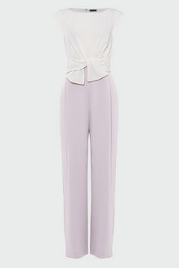 Phase Eight Janey Knot Front Jumpsuit Lilac Ivory