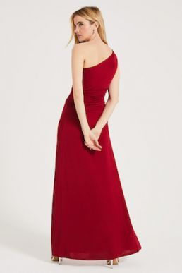 Phase Eight Jojo One Shoulder Maxi Bridesmaid Dress red