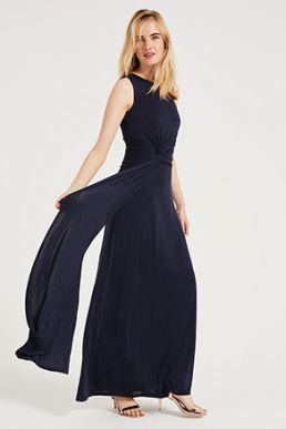 Phase Eight Jojo One Shoulder Maxi Bridesmaid Dress Navy
